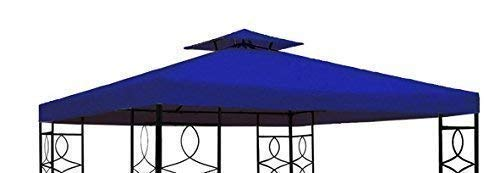 Gravidus Pavillon Ersatzdach Pavillondach mit Kaminabzug wasserabweisend 3 x 3 m (Terracotta)