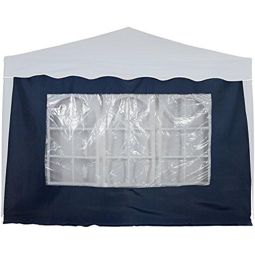 Maxstore Seitenwand/Seitenteil für Pavillon 3x3m, mit Fenster, Farbwahl Weiß Champagner Blau Grün...