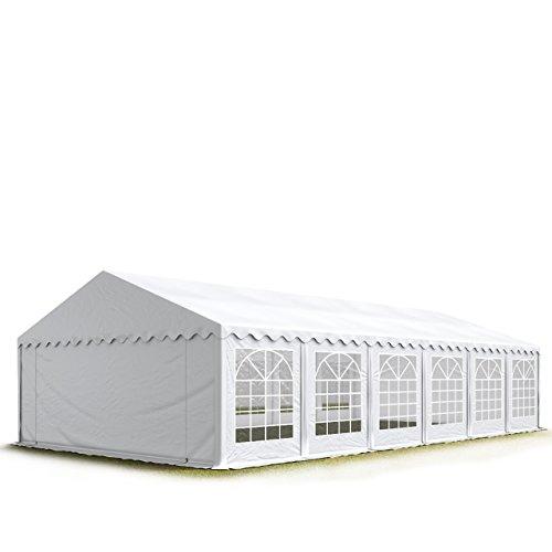 TOOLPORT Party-Zelt Festzelt 6x12 m Garten-Pavillon -Zelt 500g/m² PVC Plane in weiß Wasserdicht