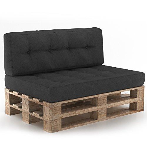 Palettenkissen Palettensofa Palettenpolster Kissen Sofa Polster Indoor Outdoor Sitz+Rückenkissen...
