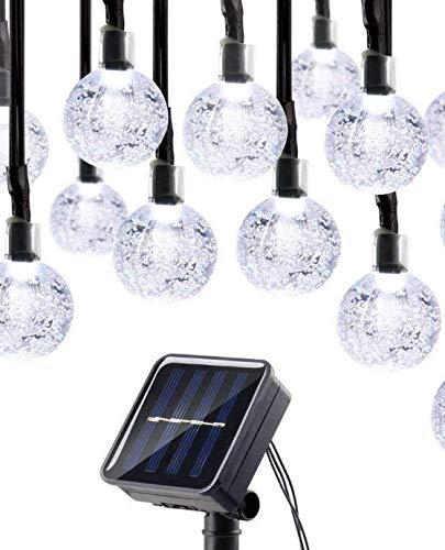 Oledank Solar Lichterkette, 6M 30 LED 2 Modus Lichterketten Kaltweiß, Batteriebetriebene String...