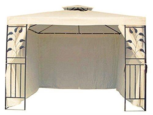 4 Seitenteile Seitenwände für 3x3 m Metall Pavillon Beige