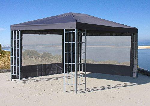 Grasekamp 2 Seitenteile mit PVC Fenster zu Aluoptik Pavillon 3x4m Anthrazit