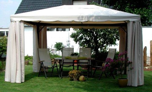 LECO Ersatzdach aus hochwertigem Polyester für den Pavillon Sahara in Naturton, 4 x 3 Meter, Garten...
