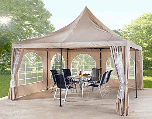 GRASEKAMP Qualität seit 1972 Ersatzdach 4x4m zu Lounge Pavillon Sahara Sand