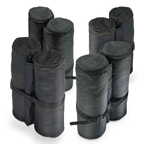 JOM Pavillon Gewichte, 4er Set, schwarz zum Befüllen mit Sand (jeweils ca.24 Kg) aus 180g Polyester...