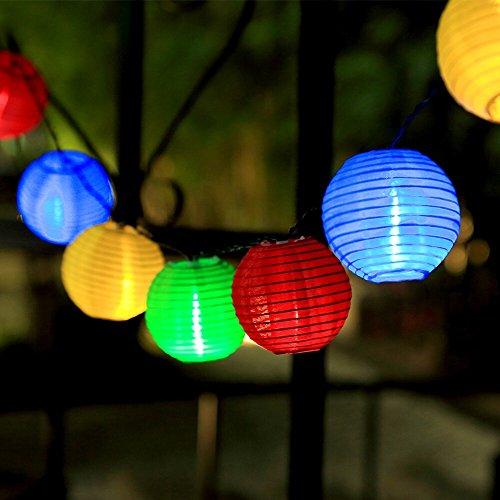 InnooTech Lichterkette 20er 4,6 Meter LED Lampions Laterne Gartenbeleuchtung Innen- und...