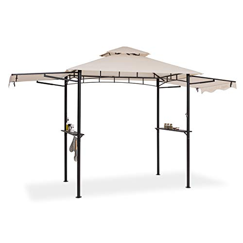 blumfeldt Steakhouse Wings - Pavillon Grilldach Grillpavillon, Größe: 235 x 242 x 145 cm (BxHxT),...