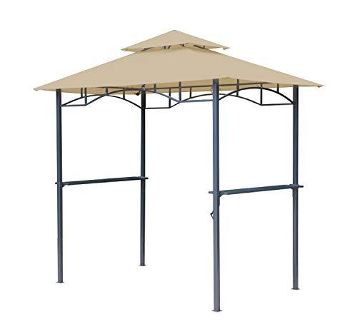 GRASEKAMP Qualität seit 1972 BBQ Grillpavillon 1,5x2,4m mit Flammschutzdach und Abzug Sand...