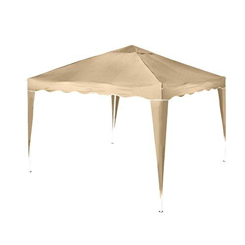 Vanage Pavillon Stella beige aus Aluminium mit 2 Seitenwänden, 300x300x260cm, Faltpavillon...