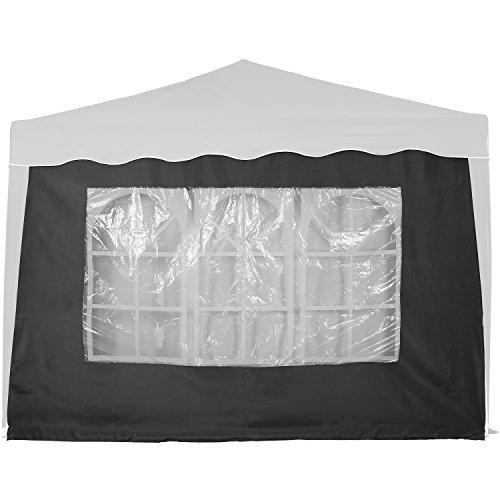 INSTENT® Basic Seitenwand/Seitenteil für Pavillon 3x3m mit Fenster oder Reißverschluss,...