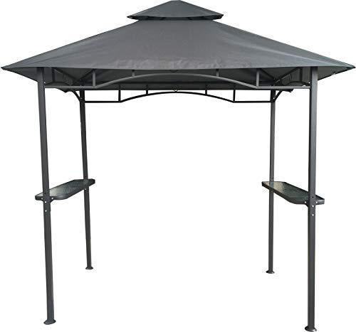 habeig Grillpavillon Wasserdicht 310g/m² PVC Dach Pavillon 250x150 cm mit Ablage Gartenlaube...