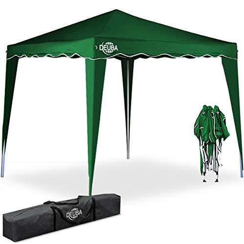 Deuba Pavillon Capri 3x3m wasserdicht Pop-Up inkl. Tasche UV-Schutz 50+ Faltpavillon Gartenzelt...