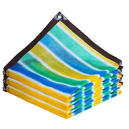 WZHIJUN Sichtschutznetz Sonnensegel Gartennetze Sc 85% Sonnenschutz Schattentuch Vierfarbig Streifen...